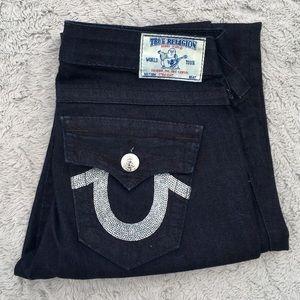 True Religion jeans Straight leg w/sequins size 27